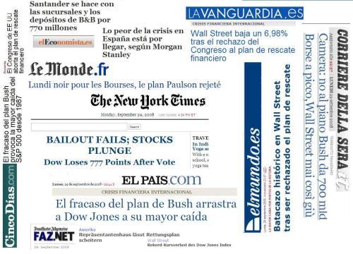 Crisis financiera internacionalLunes negro, 29 de septiembre de 2008