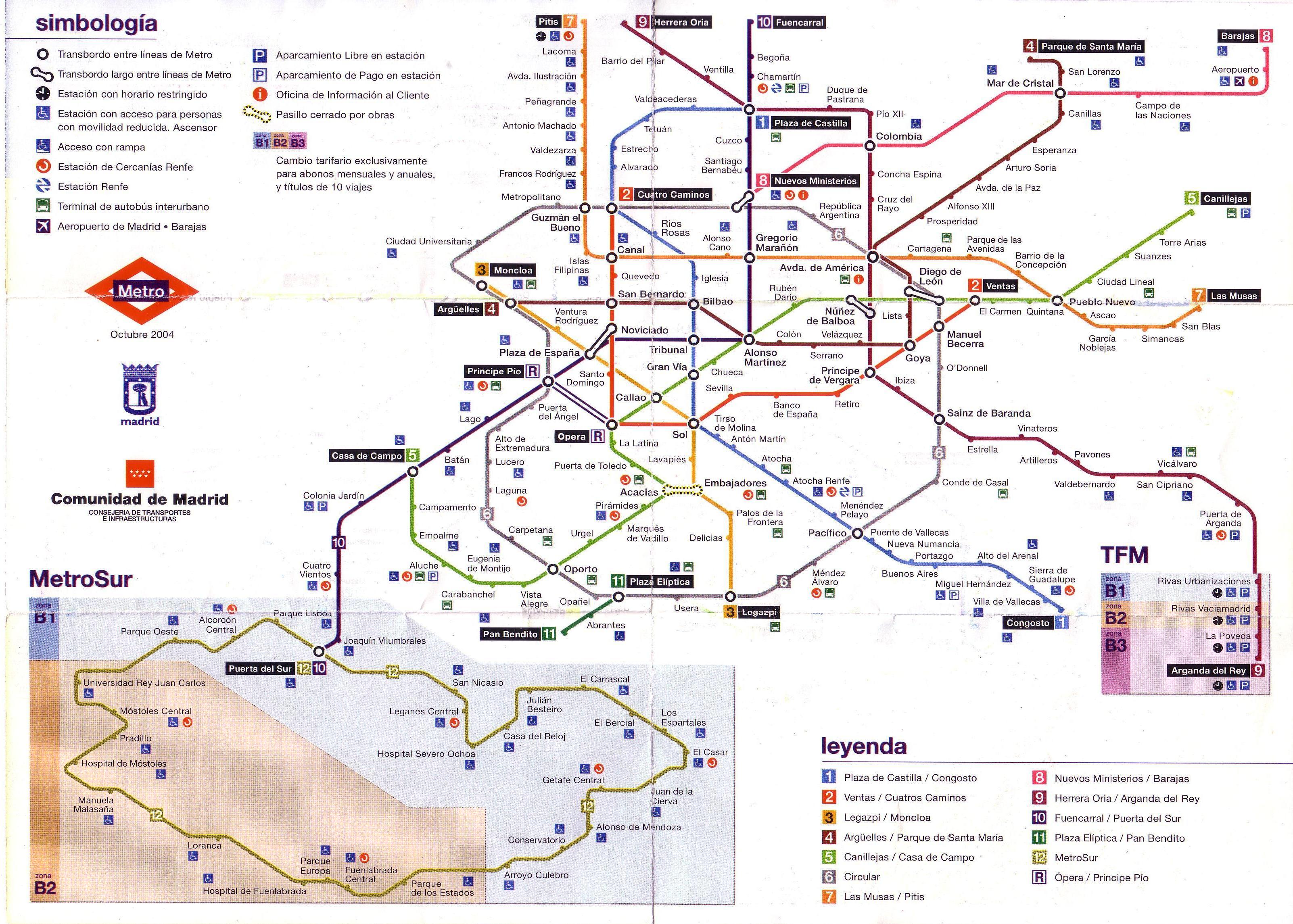 plano metro Madrid  Esas cuartillas