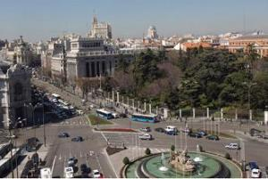 Madrid desde el Palacio de Cibeles